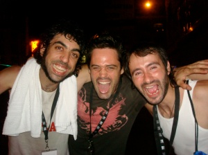 Pancho Tekila (La Pulqueria / Guitar), Roman Rojas (Singer/Songwriter/Producer), Jordi (La Pulqueria / Guitarrist)